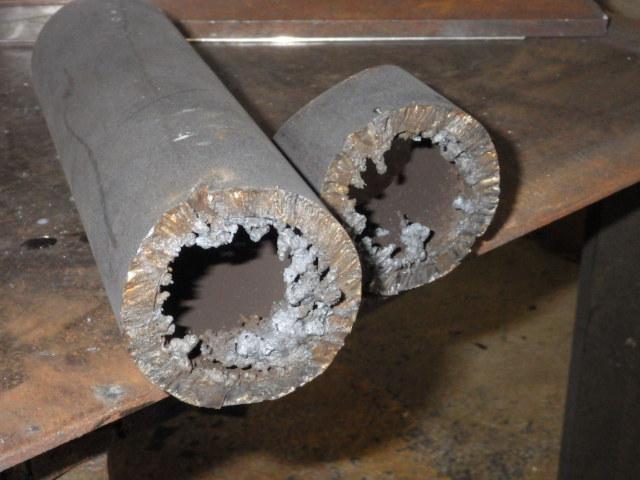 プラズマ切断機厚板ステンレスパイプ切断